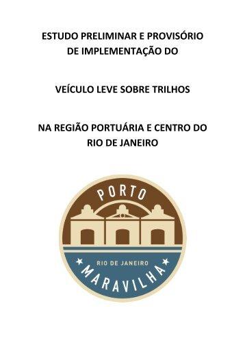 Estudo técnico preliminar da implementação do VLT - Porto Maravilha