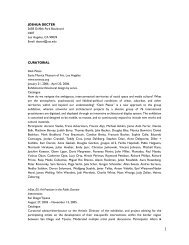 current resume/ 9/94 - USC Roski School of Fine Arts - University of ...