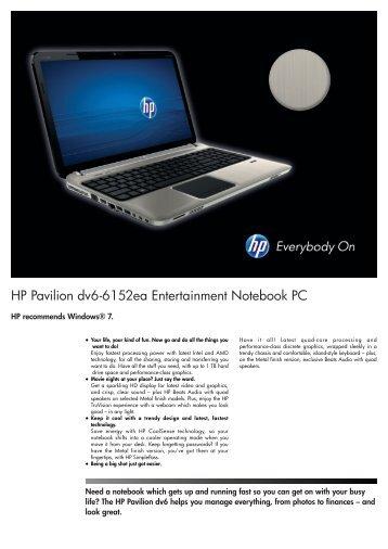 PSG Consumer 2C11 HP Notebook Datasheet - Box.co.uk