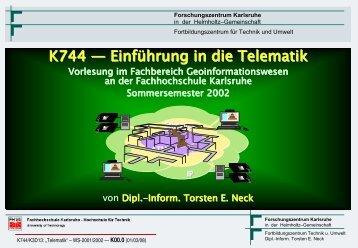 Abschnittsübersicht - Torsten E. Neck