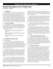 Recent Changes to U.S. Patent Law - Tannenbaum Helpern ...