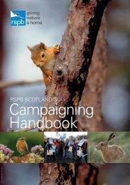 Campaigning handbook - Scotland - RSPB