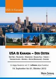 RZ_USA & Kanada_19.09.-01.10.2012_Folder - rz-Leserreisen