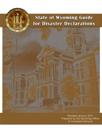Checklists for Declaring Disasters - Wyoming Homeland Security