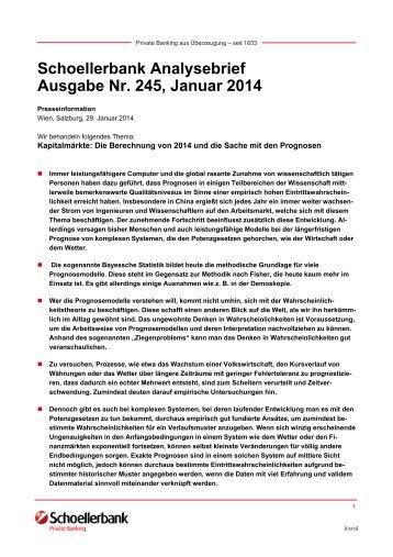 Schoellerbank Analysebrief Nr. 245 (pdf, 673 KByte)