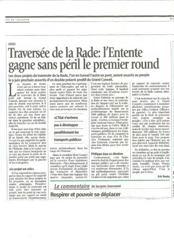 01/03/1996 Journal de geneve la rade - Charpente Concept