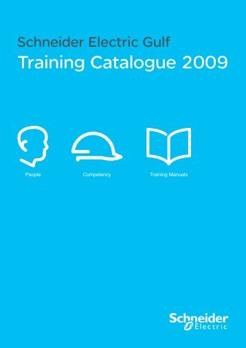 Training Catalogue 2009 - Schneider Electric