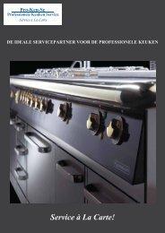 ProKeuSe Brochure - Professionele Keuken, Horeca, Grootkeuken ...