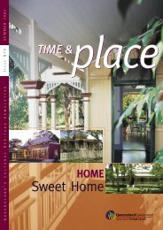 Time and Place Issue 9 Summer 2005 - Queensland Heritage Council