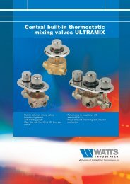 Central built-in thermostatic mixing valves ... - Watts Industries
