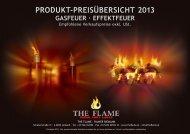 produkt-preisübersicht 2013 gasfeuer · effektfeuer - The Flame