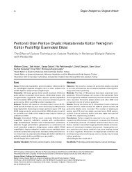 Peritoniti Olan Periton Diyalizi Hastalarında Kültür ... - Klimik Dergisi