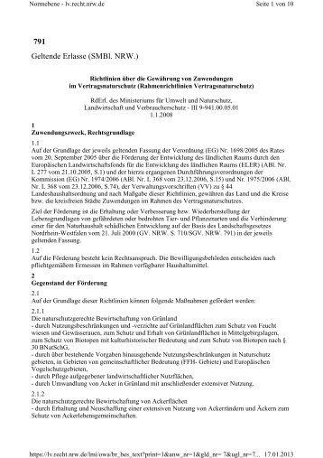 Richtlinien über die Gewährung von Zuwendungen - Ministerium für ...