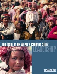 The State of the World's Children 2002 - Consultative Group on ...