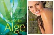 """""""Her mit der Alge"""", P. Huber, Vital Ausgabe August ... - Beauty Cuisine"""