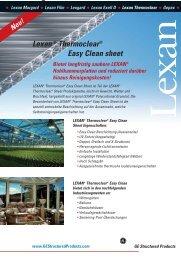 LEXAN® Thermoclear® Easy Clean