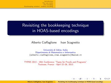 Revisiting the bookkeeping technique in HOAS-based ... - IRIT