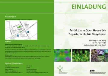 (D-BSSE), Mattenstrasse 26 - ETH Zürich