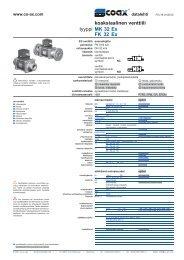 tyyppi koaksiaalinen venttiili MK 32 Ex FK 32 Ex - müller co-ax ag