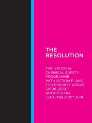 the national chemical safety programme