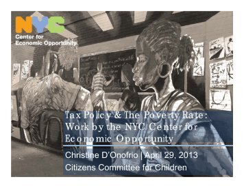 Tax Policy & The Poverty Rate - Citizens' Committee for Children of ...