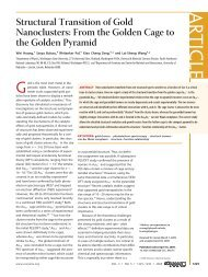 Structural Transition of Gold Nanoclusters: From the Golden Cage to ...