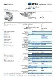type vanne coaxiale FCF-K 65 - müller co-ax ag