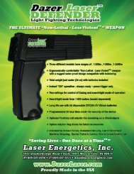 Dazer Laser DEFENDER Features and Spec Sheet - Laser Energetics
