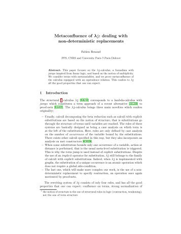 Metaconfluence of λj: dealing with non-deterministic ... - PPS