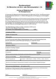 Bundesverband für Menschen mit Arm- oder ... - Stolperstein