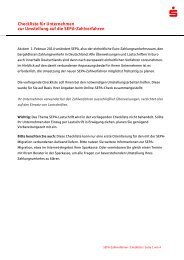 Checkliste fuer Unternehmen zur Umstellung auf die SEPA ...