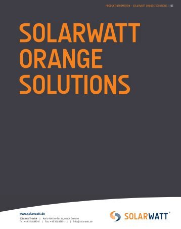 olarwatt orange solutions - Solarwatt