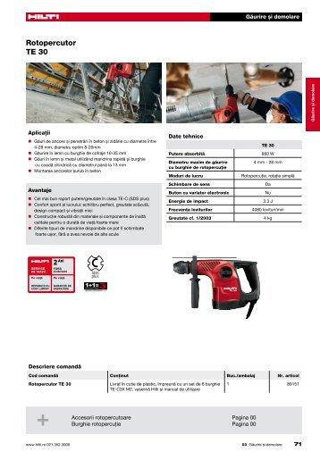 Hilti TE 76P P manual, review - ps2netDrivers