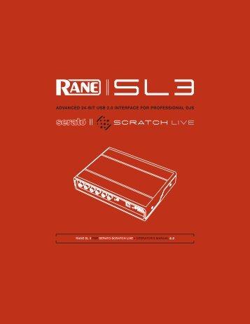 sl 3 manual for serato scratch live 2 0 rane corporation rh yumpu com Serato DJ Controller serato scratch live sl1 manual español