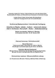 Szlachta na Śląsku: władza – kultura – wizerunek własny Adel in ...