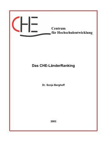 Centrum für Hochschulentwicklung Das CHE ... - CHE Ranking