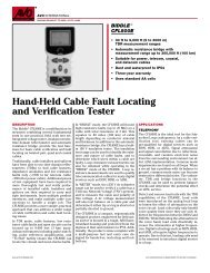Hand-Held Cable Fault Locating and Verification Tester - Maxtech