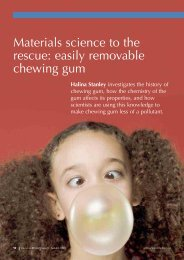 Materials science to the rescue: easily ... - Science in School