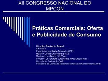Publicidade e Oferta - Ministério Público do Estado do Ceará