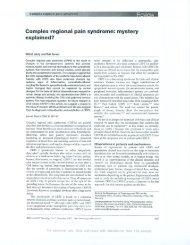 Complex regional pain syndrome - Reflex Sympathetic Dystrophy ...