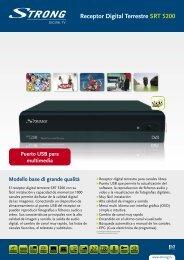 Receptor Digital Terrestre SRT 5200 - STRONG Digital TV