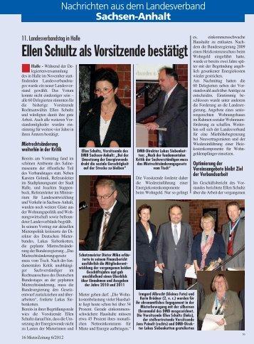 Ellen Schultz als Vorsitzende bestätigt - Deutscher Mieterbund