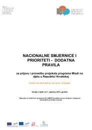nacionalne smjernice i prioriteti - dodatna pravila - Agencija za ...