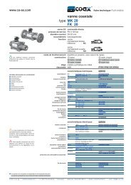 type vanne coaxiale MK 20 FK 20 - müller co-ax ag