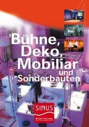 Bühne, Deko, Mobiliar und Sonderbauten - SINUS Event-Technik ...