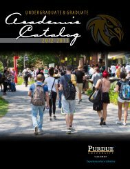 Purdue University Calumet 2012 - 2013 Academic Catalog