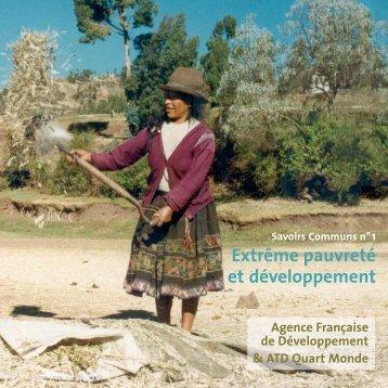 Extrême pauvreté et développement - Agence Française de ...
