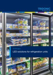 LED solutions for refrigeration units