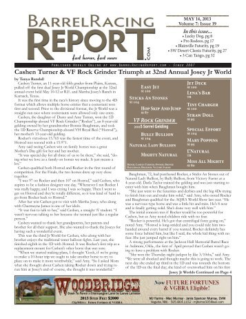 5/14 - Barrel Racing Report