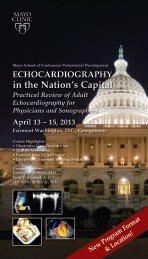 Tri card Echo in Nations Capital Sonog/Physician ... - Mayo Clinic